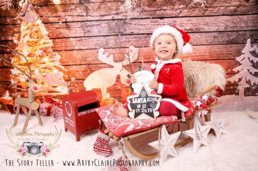 Christmas Photo Shoot by ArtbyClaire Portrait Photographer